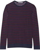 Alexander Wang Striped Jersey Top - Burgundy