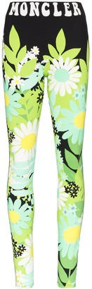 Moncler x Richard Quinn floral-print leggings