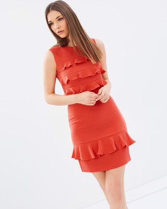 Whistles Bea Frill Front Dress