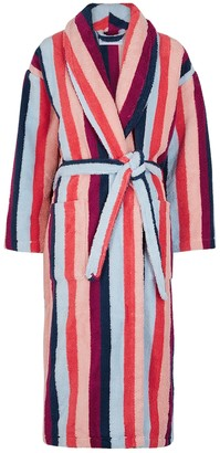 Desmond & Dempsey Medina striped terry robe