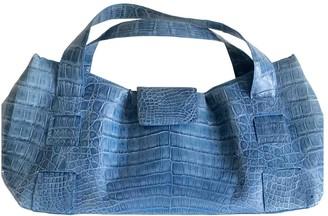 Nancy Gonzalez Blue Crocodile Handbags
