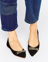 Love Moschino Pointed Ballet Flats