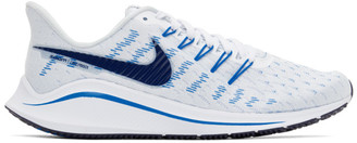 Nike Blue and White Air Zoom Vomero 14 Sneakers