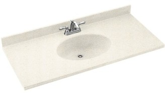 "Swan Chesapeake Solid Surface 61"" Single Bathroom Vanity Top Top Finish: Baby's Breath"