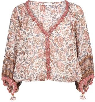 Poupette St Barth Floral cotton blouse
