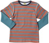 Kiwi Tee (Toddler/Kid) - Red Earth/Slate Stripe-2 Years