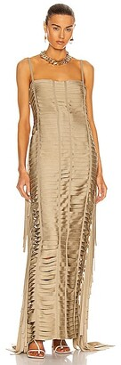 Givenchy Ribbon Effect Long Dress in Beige
