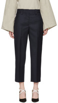 Acne Studios Navy Wool Trea Suit Trousers