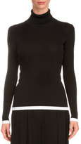 Givenchy Tipped Rib-Knit Turtleneck Sweater