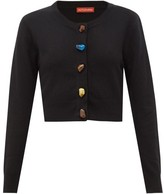 Altuzarra Wellmore Cropped Wool And Cashmere Cardigan - Womens - Black