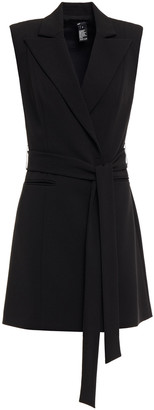 Jay Godfrey Belted Stretch-crepe Mini Dress