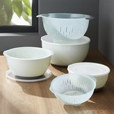 Crate & Barrel 9-Piece OXO ® Nesting Bowls and Colanders and Lids Set