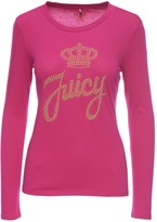 Juicy Couture Logo Juicy Stud Script Long Sleeve Tee