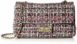Karl Lagerfeld Paris AGYNESS WOVEN SHOULDER BAG Merlot