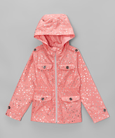 Hawke & Co Flamingo Foil Star Zip-Up Jacket - Girls