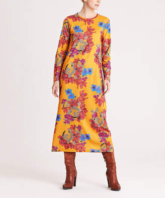 Simmly Women's Casual Dresses Yellow - Yellow & Red Floral Maxi Dress - Women