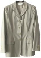 Calvin Klein Collection Beige Cotton Jacket for Women Vintage