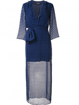 Saloni sheer polka dot dress
