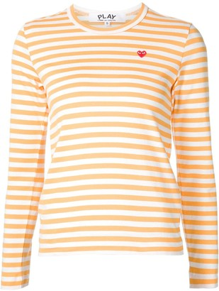 Comme des Garcons mini-heart striped T-shirt