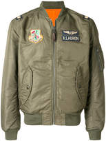 Polo Ralph Lauren military patch bomber jacket