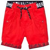 Timberland Red Branded Cotton Turn Up Shorts