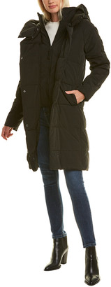 French Connection Relaxed Fit Puffer Coat