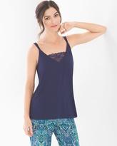 Soma Intimates Pajama Cami With Lace Navy