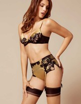 Agent Provocateur Nayeli French Knicker Gold And Black