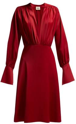 KHAITE The Connie Crepe Dress - Womens - Red