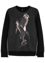 Neil Barrett Black Falcon-print Neoprene Sweatshirt