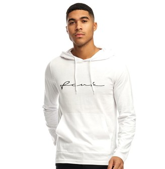 French Connection Mens Centre Scribble Hoodie White/Black
