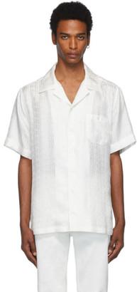 Dolce & Gabbana White Silk Logo Shirt