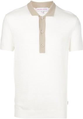 Orlebar Brown Rushton textured-knit polo shirt