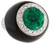 Kenneth Jay Lane Art Deco Resin & Crystal Ring