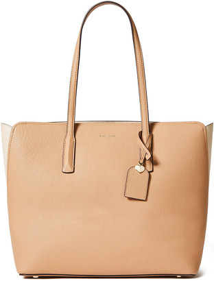 Kate Spade Two-tone Pebbled-leather Tote