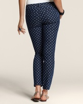 Chico's Platinum Denim Dot Print Ankle Jean