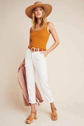 Anthropologie Scout Tapered Slim Pants By in White Size 25