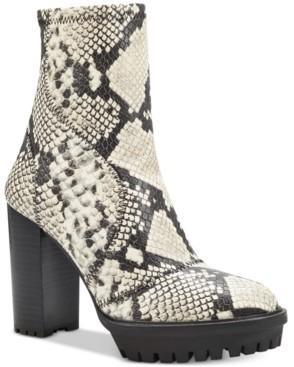 Vince Camuto Women's Erettie Lug Sole Platform Booties Women's Shoes