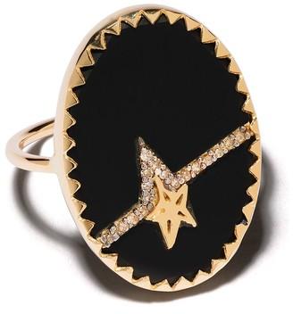 Pascale Monvoisin 9kt yellow gold diamond Varda N3 ring