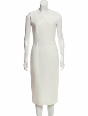 Roland Mouret Sleeveless Midi Dress w/ Tags White