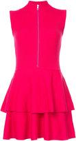 Moschino zipped ribbed dress - women - Virgin Wool - 40