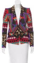 Just Cavalli Printed One-Button Blazer