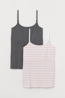 H&M MAMA 2-pack Nursing Tank Tops