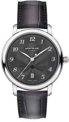 Montblanc Star Legacy Stainless Steel & Alligator Strap Automatic Date Watch