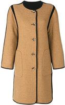 Etro reversible collarless coat - women - Acrylic/Wool - 40