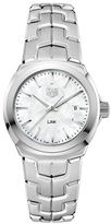 Tag Heuer Link Mother-of-Pearl and Stainless Steel Bracelet Watch