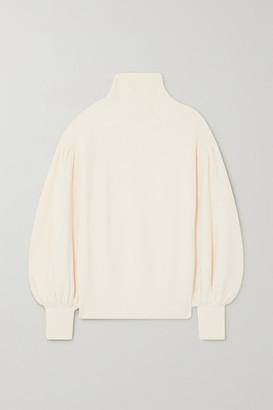KING & TUCKFIELD Ribbed Merino Wool Sweater - Cream