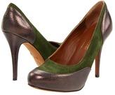 Donald J Pliner Lennox (Khaki Wash Suede Metallic) - Footwear