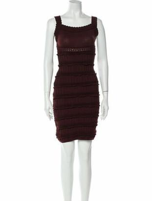 Alaia Wool Crochet-Trimmed Dress wool