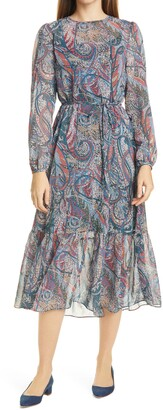 Ted Baker Elornna Paisley Long Sleeve Dress